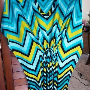 Chevron Patterned Calvin Klein Kimono Dress